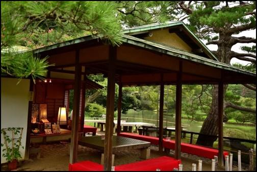 六義園の茶屋の画像