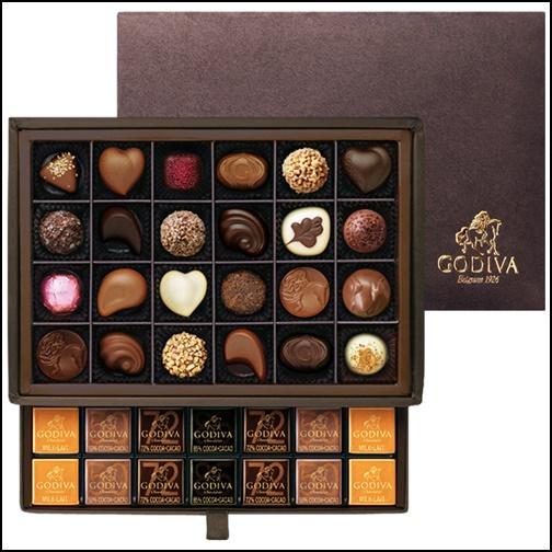 ゴディバチョコレートの画像