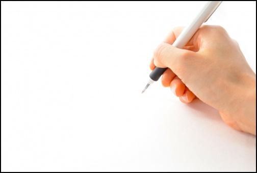 手書きで書いている画像