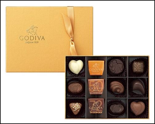 GODIVA ゴールドコレクション12個入りの画像