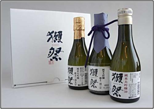 獺祭 純米大吟醸 飲み比べ 180ml×3本セット 専用カートン入の画像