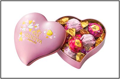 ゴディバのラッピングチョコレートの画像