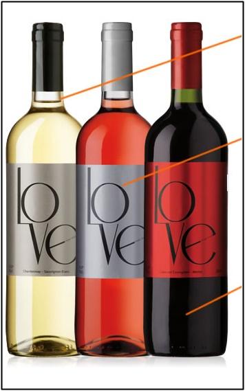 LOVE(赤ワイン 750ml)×パレ・オランジュ(2枚)の画像
