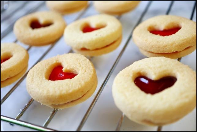 ハートのクッキーの画像