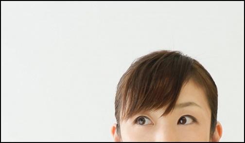 女性の前髪画像