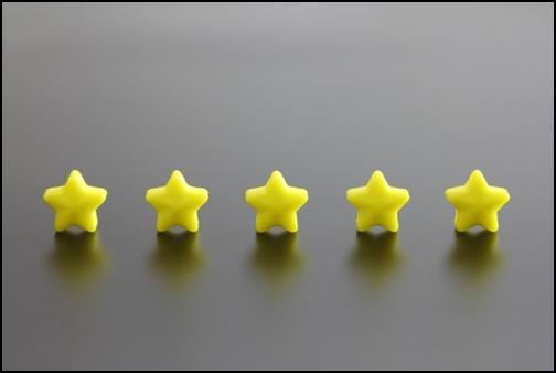 5つ星のランキング画像