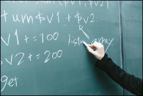 黒板に書かれた英語の画像