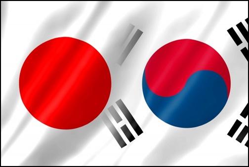 日本と韓国の国旗画像