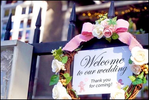 結婚式の受付画像