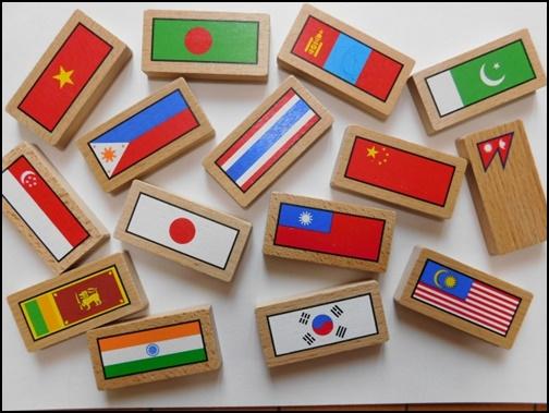 アジアの国旗画像