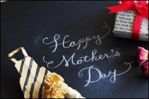 英語で母の日と書かれた画像