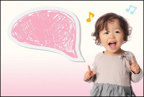 歌う・お話する女の子の画像