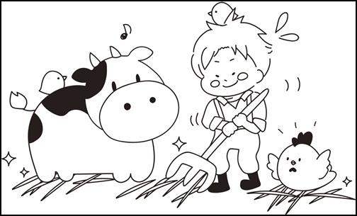 牛のイラスト画像