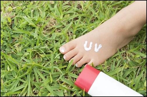 足のUVケアの画像
