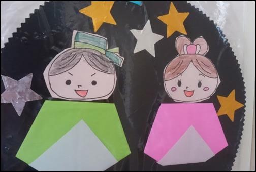 彦星と織姫の折り紙画像