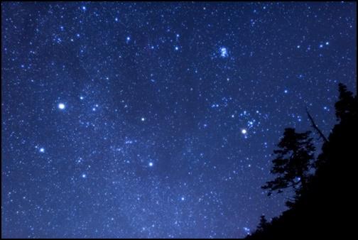 七夕の星空の画像
