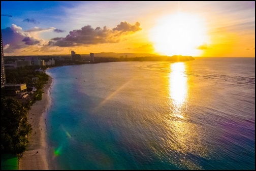 ビーチと夕焼け画像