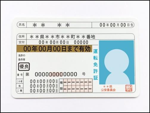 免許書の画像