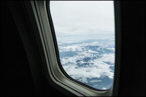 飛行機の中の画像