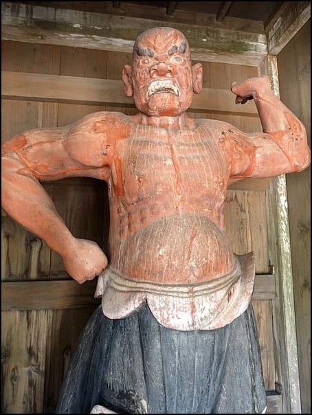 桃林寺の仁王像の画像