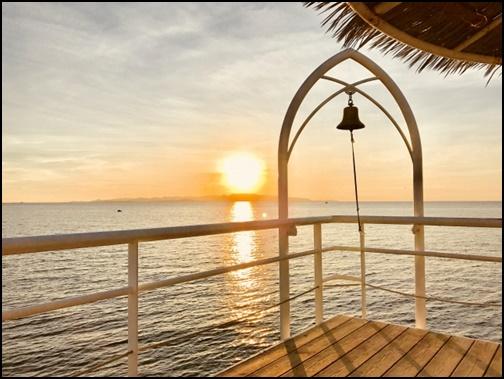 フサキビーチからの夕焼け画像