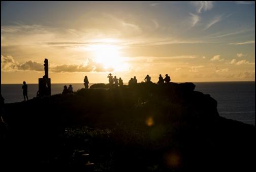 御神崎の夕焼け画像