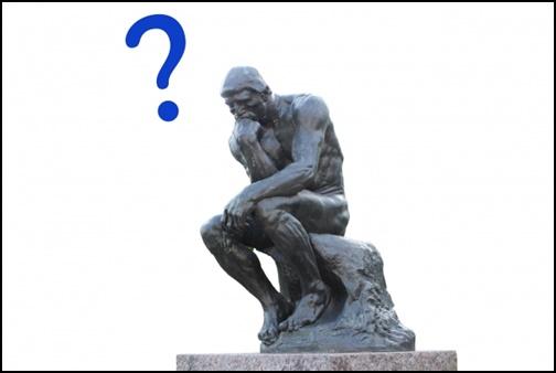?と考える銅像の画像