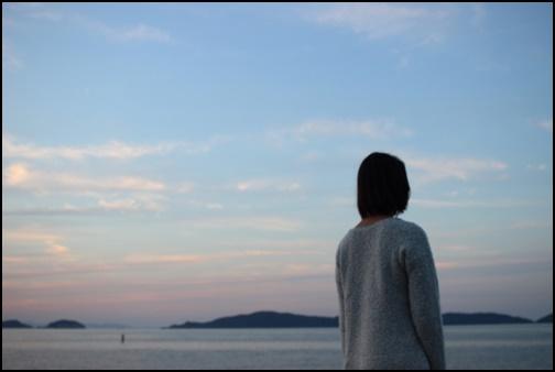 夕方の黄昏の画像