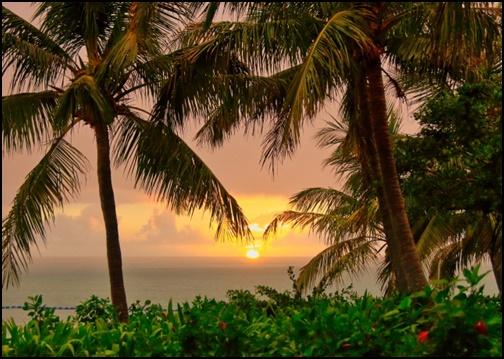 沖縄の夕焼けの画像