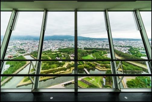 五稜郭タワーからの景色画像