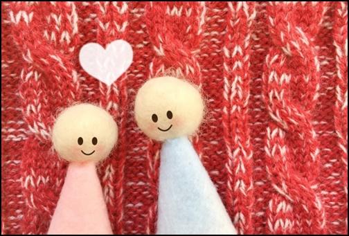 仲良しの人形の画像