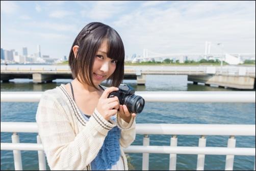 カメラ女子の画像