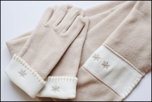 手袋とマフラーの画像