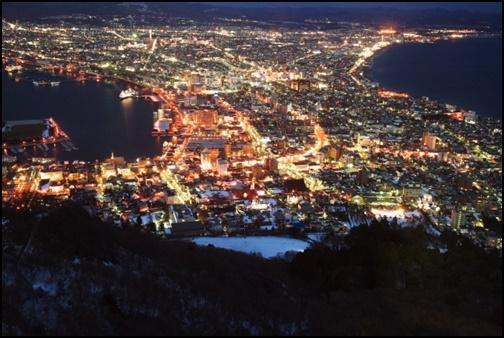 函館山から見た箱館の夜景画像
