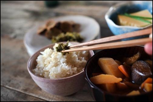 朝ごはん、和食の画像