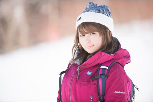 1月の北海道女子の服装画像