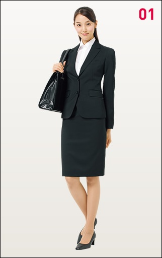 就職活動の女性のリクルートスーツの画像