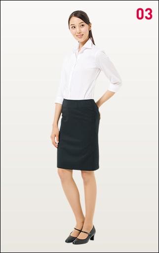 就職活動の女性の白シャツの画像