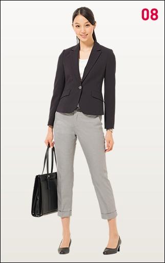 就職活動の女性の服装自由の場合のおすすめ服装画像