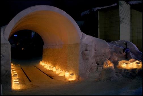 小樽のスノートンネルの画像