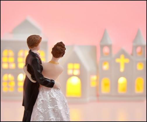 結婚式のアニメ―ション画像