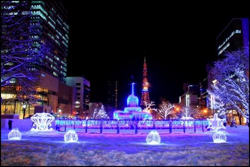札幌 イルミネーション雪の画像