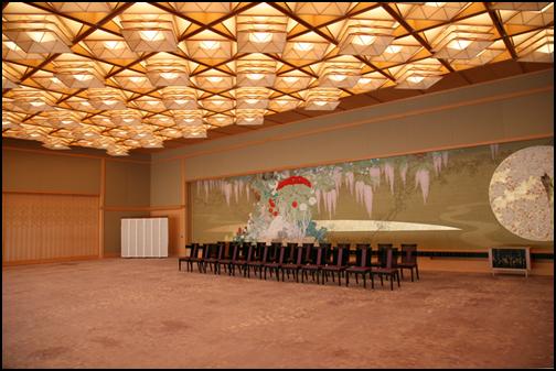 京都迎賓館の藤の間の画像