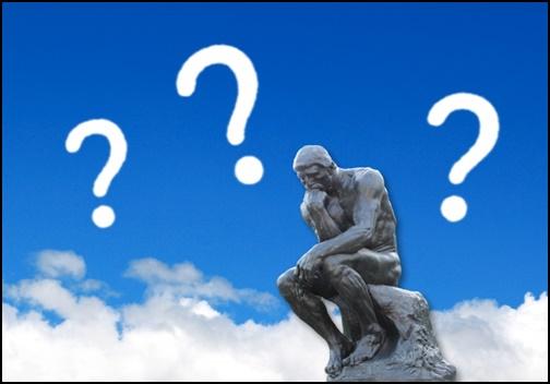 考える銅像の画像