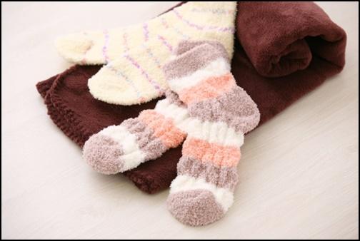 モコモコ靴下の画像