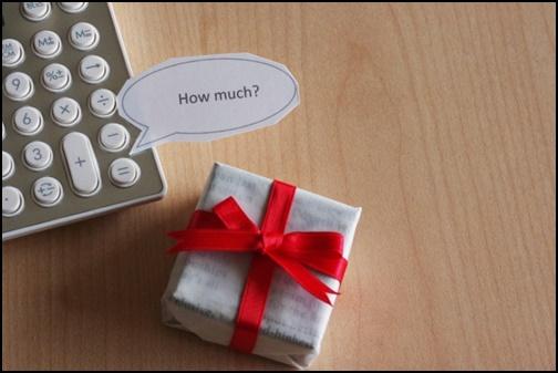プレゼントの予算画像
