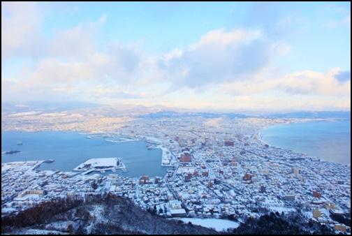 函館の雪化粧の画像