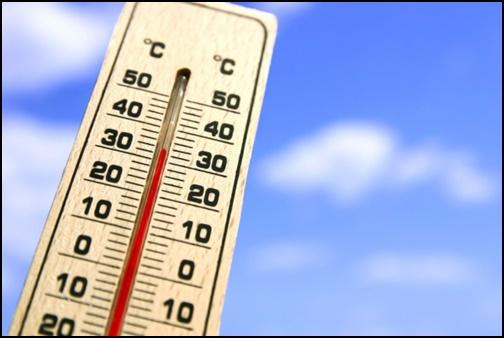 30℃を超えている温度計の画像