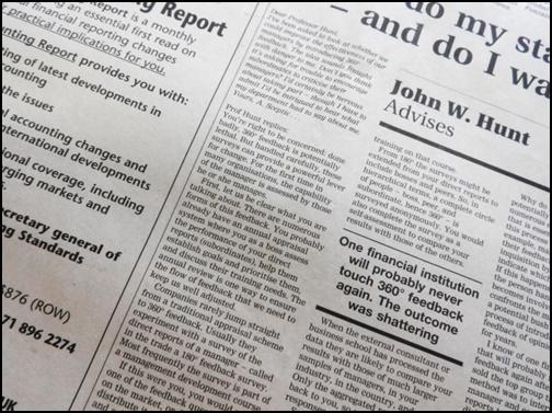 英語新聞の画像