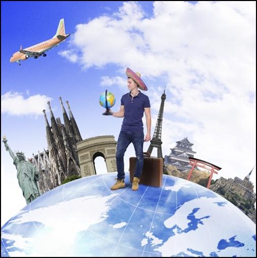 海外旅行の画像